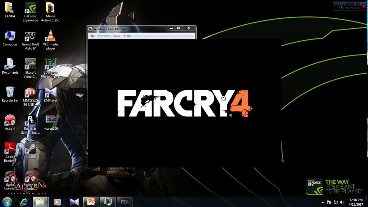Far Cry 4 Not Responding Black Screen 100% Fix