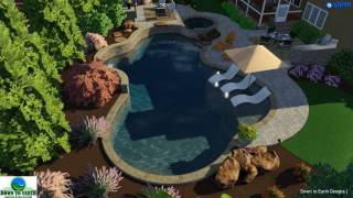 Raleigh, NC outdoor living space - landscape, pool