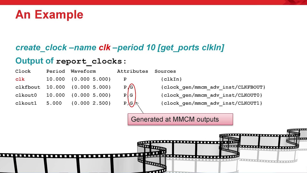 Creating Generated Clocks