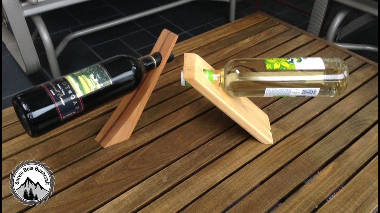 comment construire un porte bouteille de vin en bois magique