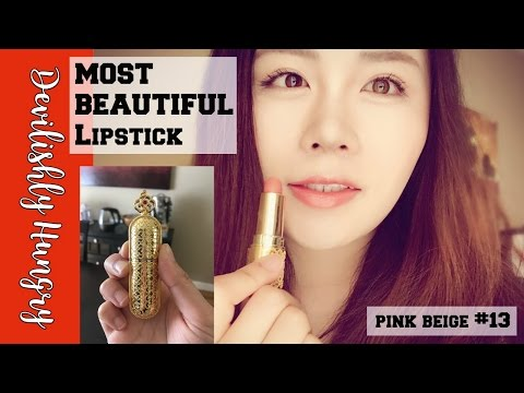 WORLD'S MOST BEAUTIFUL LIPSTICK   THE HISTORY OF WHOO LIPSTICK REVIEW   Shade #13 Pink Beige