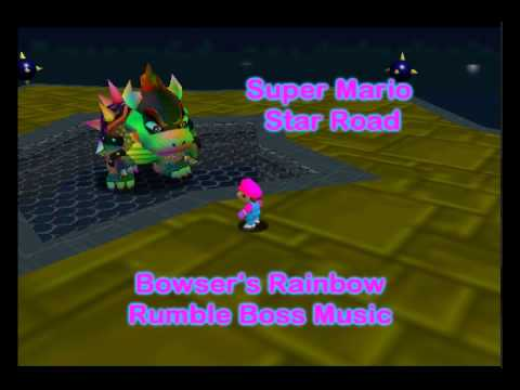 Super Mario: Star Road - Bowser's Rainbow Rumble Boss Music