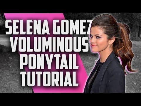 Selena Gomez Voluminous Ponytail Hairstyle Tutorial JesseMinty