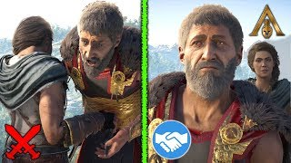 Killing VS. Sparing Your Father - Wolf of Sparta Choices - Both Outcomes (Assassin's Creed Odyssey)