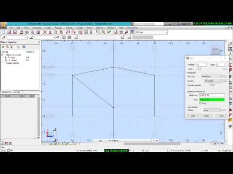 Designing a steel structure in Autodesk Robot Structural Analysis  Video# 1