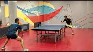 тренировка по настольному теннису Таламанов Иван и Матвеев Максим взгляд со стороны февраль 2018