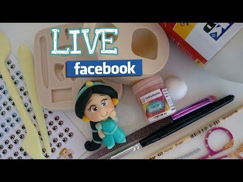 LIVE FACEBOOK -  Princesa Jasmine com e sem molde