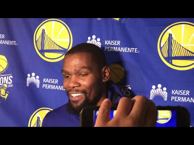 Golden State Warriors Forward Kevin Durant Postgame Interview — 12/3/18