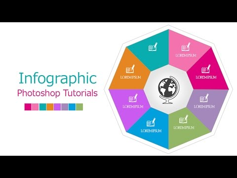 InfoGraphic Tutorial in Photoshop #06 - Polygon sides multiple colors