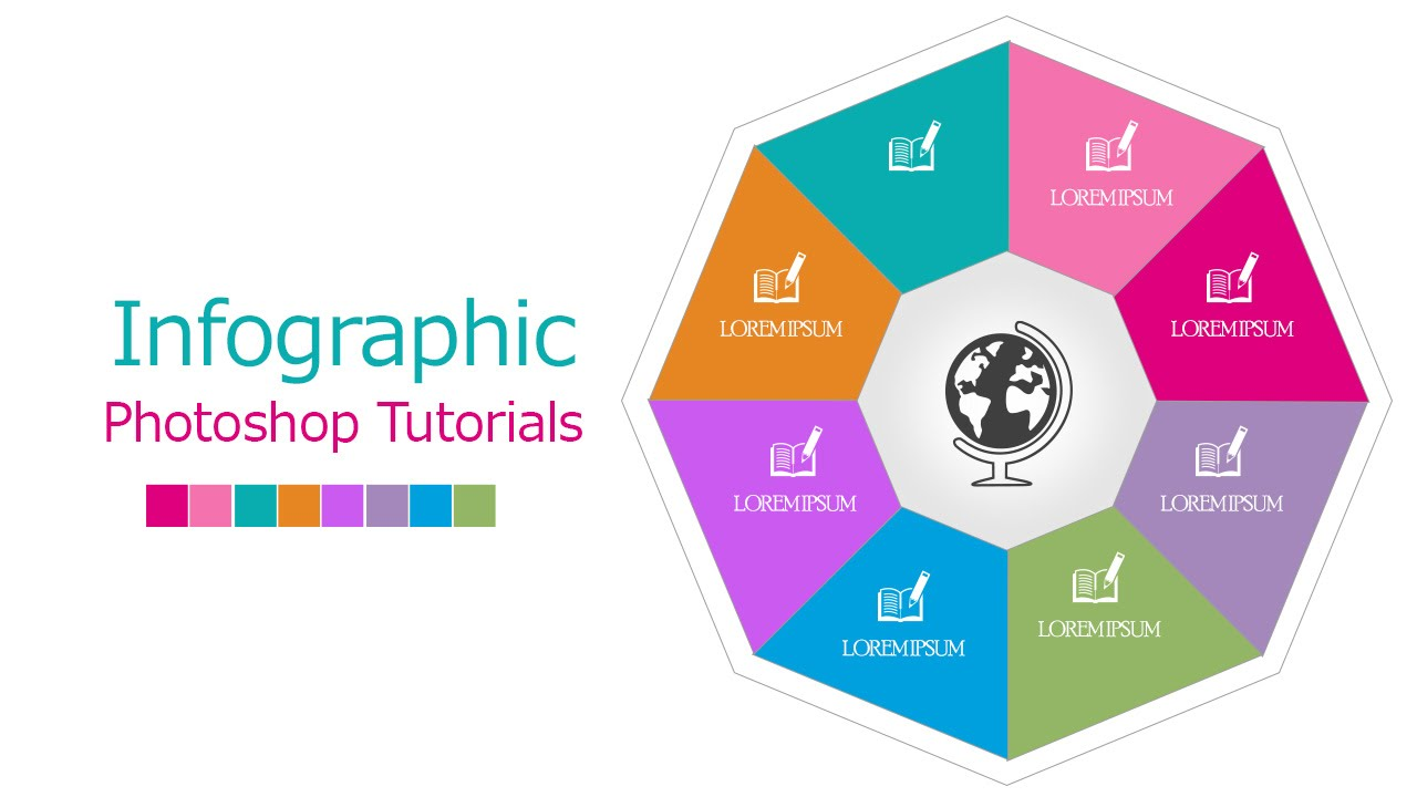 InfoGraphic Tutorial in Photoshop #06 - Polygon sides ...