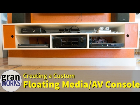 Custom Floating Media Console | Mid-Century Modern | Woodworking