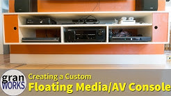 Custom Floating Media Console | Mid-Century Modern | Woodworking