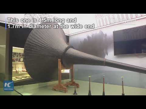"""4.5 meters long! Huge traditional Chinese musical instrument """"suona"""" recognized as world's largest"""