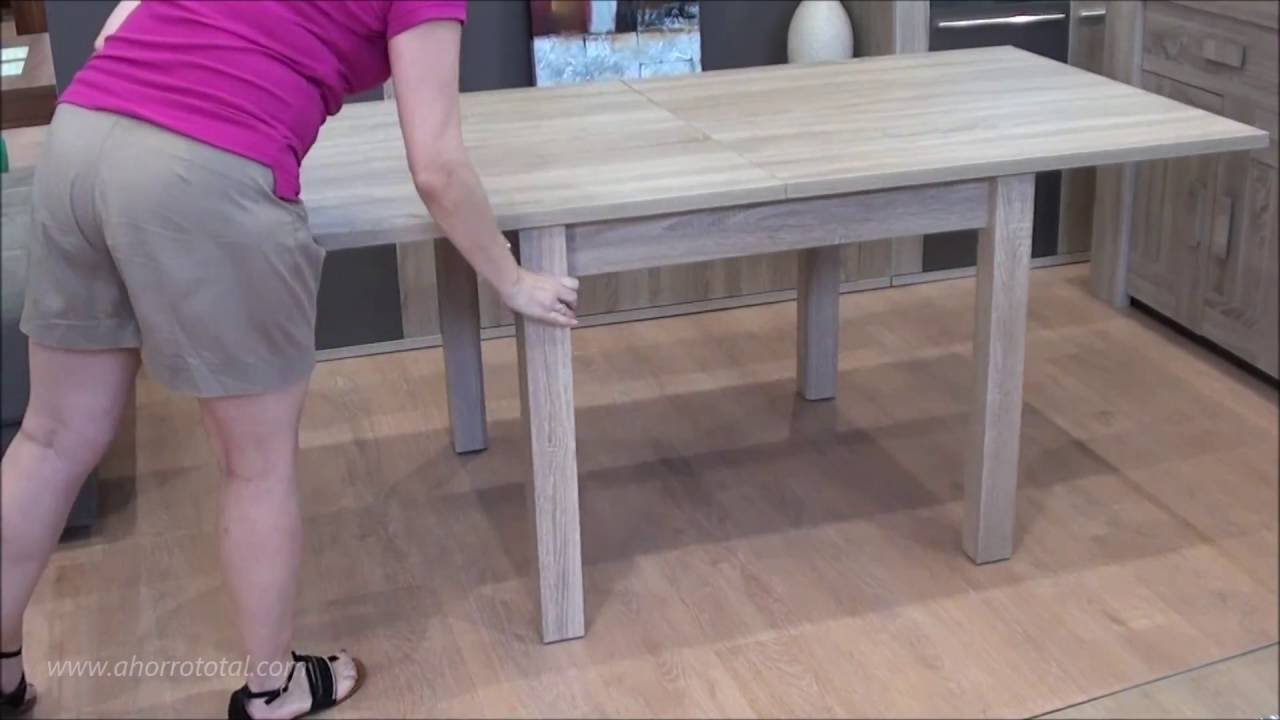 Mesa comedor cuadrada extensible 6188 - YouTube