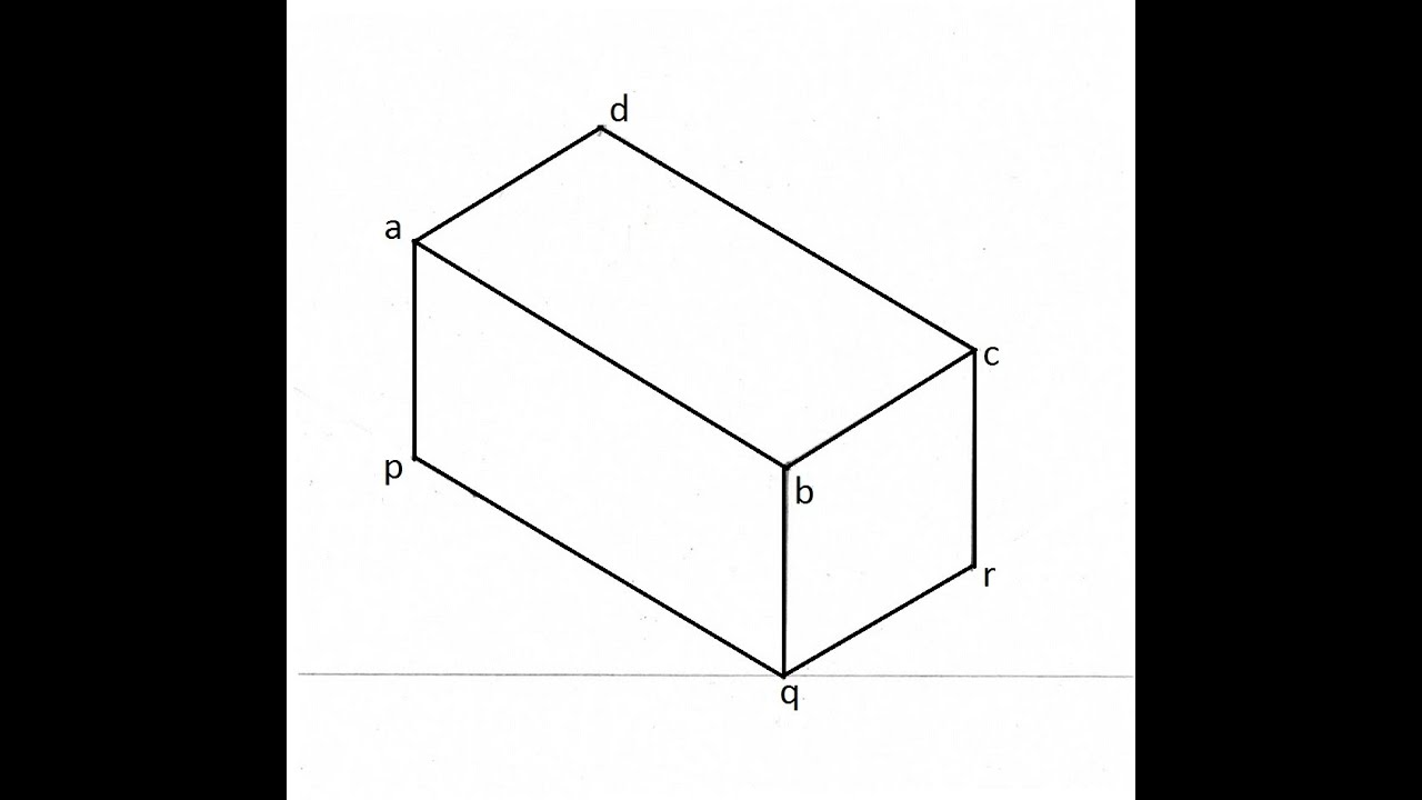 46 Drawing Isometric View Of A Rectangular Prism Youtube Diagram The Purpose An Is To
