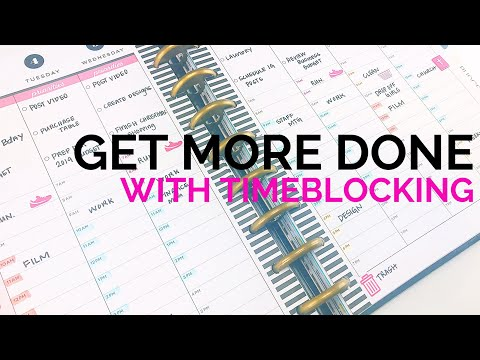 How to TimeBlock in Your Planner #adulting101 #timeblocking #productivity #happyplanner #vlogmas