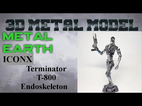Metal Earth ICONX/Premium Series Build - The Terminator T-800 Endoskeleton