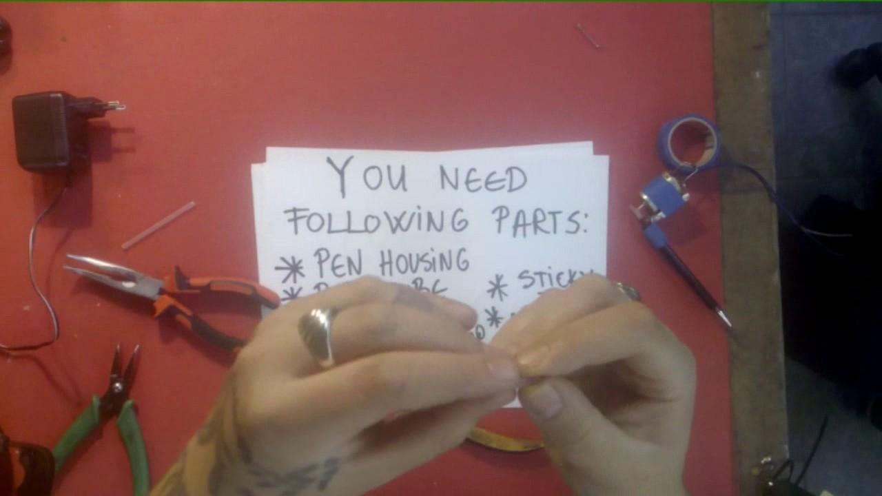 How to make home made tattoo machine youtube for How to make a home made tattoo machine