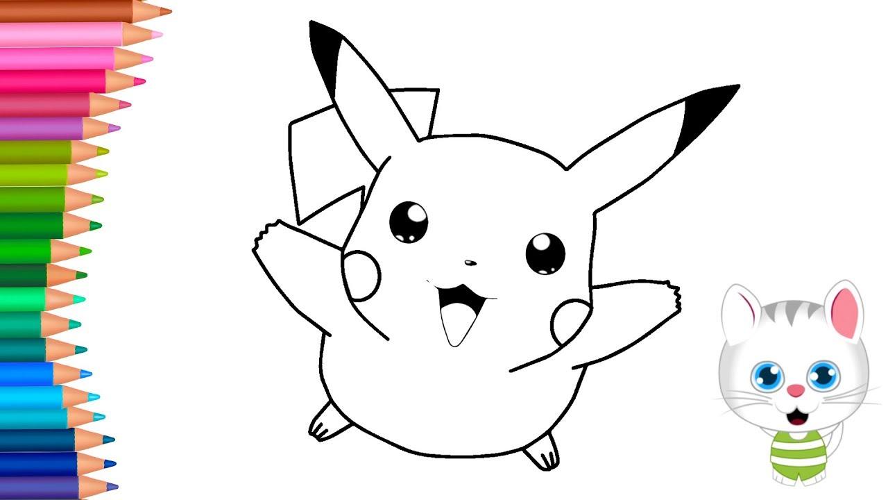 Pokemon Pikachu Jak Narysowac Malych Raczek Kolorowanka Dla Dzieci Youtube
