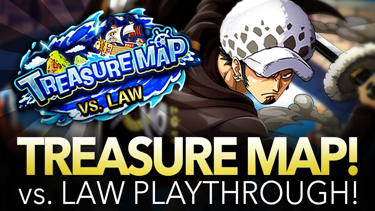 TREASURE MAP vs. Law! Full Playthrough! (ONE PIECE Treasure Cruise)