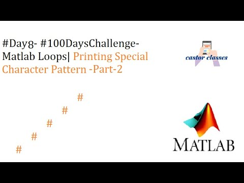 #Day8- #100DaysChallenge- Matlab Loops| Printing Special Character Pattern-Part-2