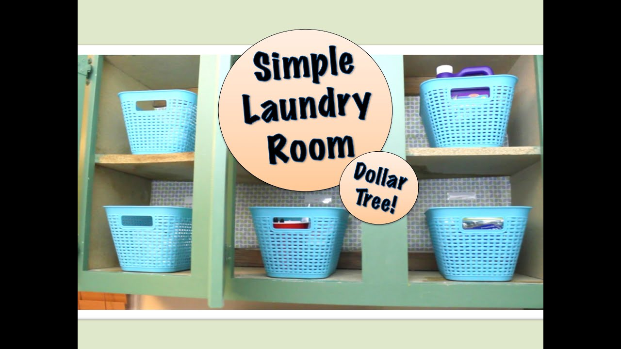 Simple Laundry Room Organizing | DOLLAR TREE PRODUCTS