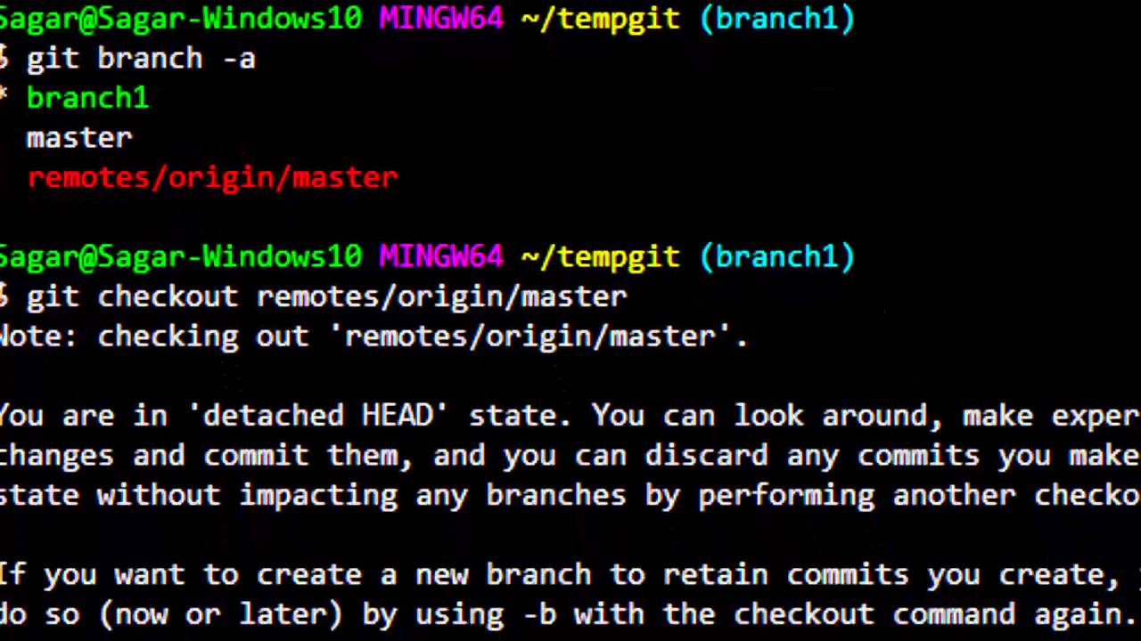 Git checkout to new branch