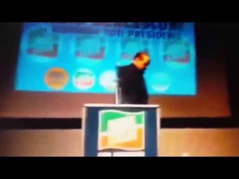Berlusconi falls after speech