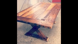 Building a custom table using only barn beams