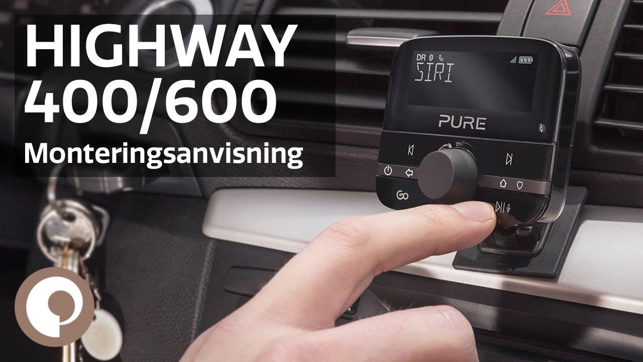 pure highway 400 600 monteringsanvisning norsk youtube. Black Bedroom Furniture Sets. Home Design Ideas