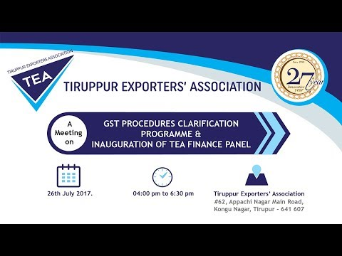 GST Procedures Clarification Program on 26th July 2017