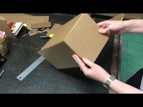 Квадратная коробка своими руками