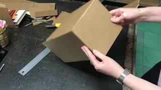 как сделать коробочку из картона своими руками видео без клея