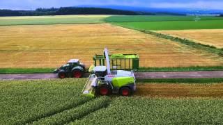 GPS Ernte bei Bastian 2015 (Ganzpflanzensilage)