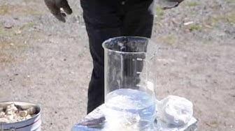 Kalksläckning i Pargas - Kalkin sammutusta Paraisilla
