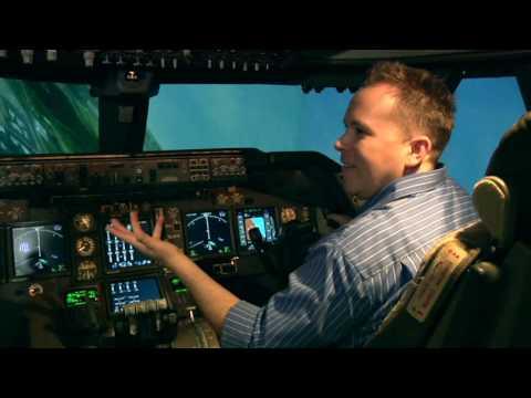Nasa Ames 747 Flight Simulator reporter test drive