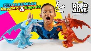 Praya & Mainan Naga Api dan Naga Es | ZURU Robo Alive Dragon Fire & Dragon Ice