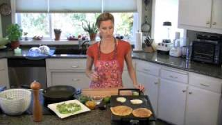 Quick and Easy Healthy Breakfast Recipe - Cornmeal Pancakes - www.TheDeliciousRevolution.com