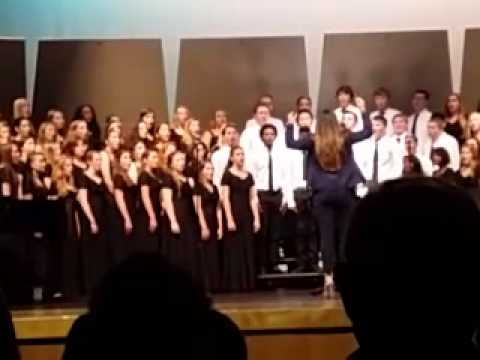 Parker with the Lakewood Ranch High School Chorus