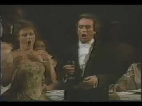 """Josep Carreras/Edita Gruberova: """"Libiamo Nell'lieti Calici"""" (Brindisi) - La Traviata, 1st Act"""