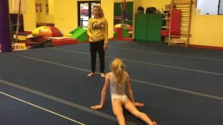 Annika's Floor routine practice