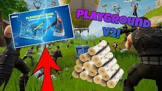 PLAYGROUND V2 IS NOW BACK!! GIFTING SYSTEM IN FORTNITE! DUO'S W/ BAZZAA! (FORTNITE BATTLE ROYALE)