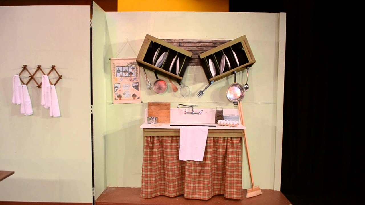 Mary Poppins the Musical by Stage Crafters  Banks Kitchen Scene DesignBuilt by Jerry Schauer