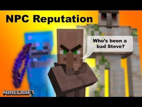 NPC Reputation Faction system in Vanilla minecraft 1.7 [13w38c] showcase