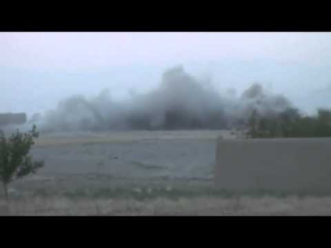 A10 attack plane engages Taliban in treeline
