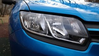 Renault Logan new / Первый тест-драйв в 4k (GoPro 4 black Ultra HD)