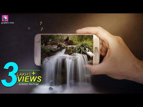 3D Waterfall On Mobile(3D Pop Out Effect) Photo Manipulation In Photoshop – Photoshop CC