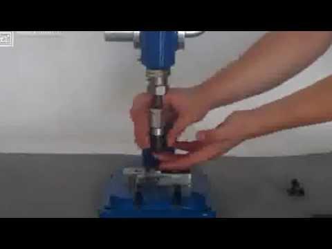 Пресс для установки фурнитуры BHP-1 Aurora - YouTube