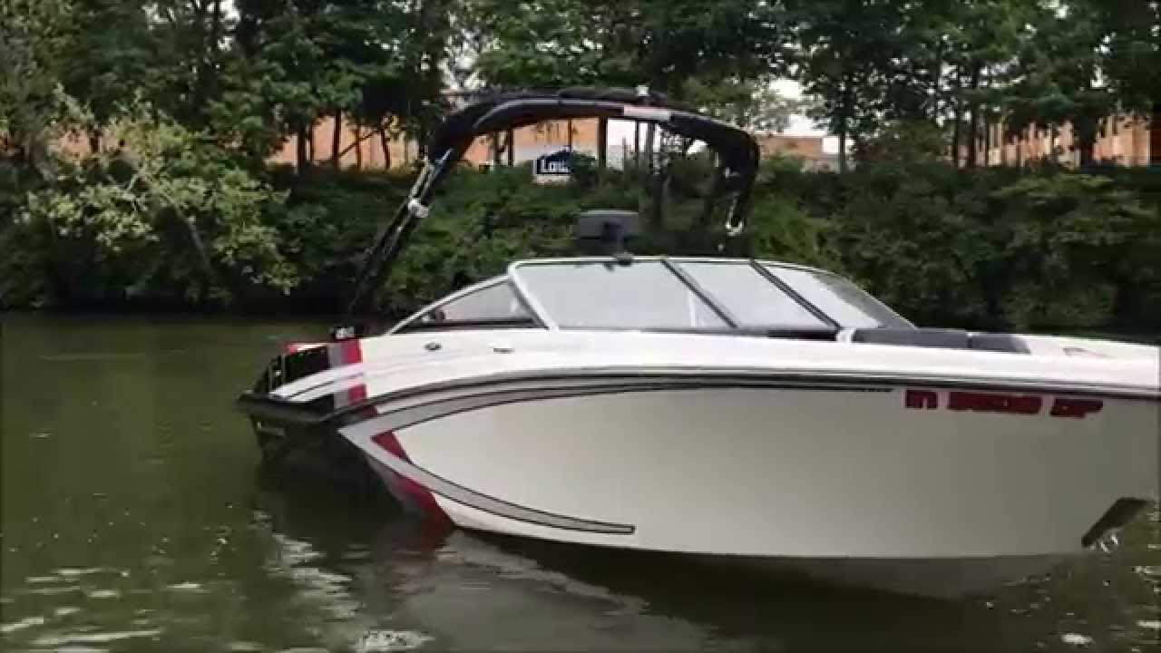 2013 Glastron GTS 205- White/ Red/ Black/ Grey On Water