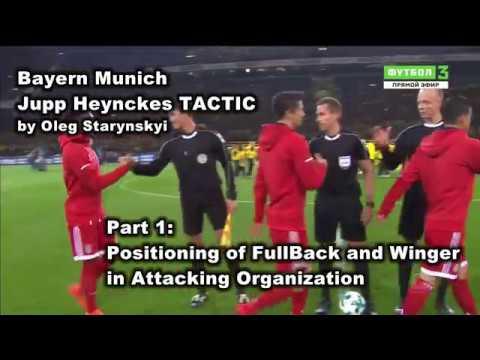 Bayern Munich under Jupp Heynckes TACTIC. Part 1 Positioning of FullBack and Winger